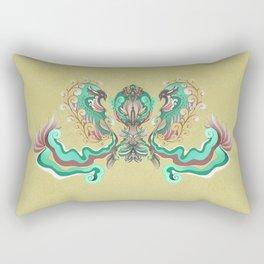 """Avis """"DarkGreen"""" Rectangular Pillow"""