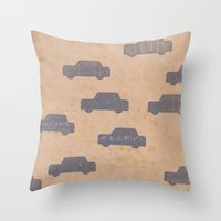 car Throw Pillows featuring Car by sinonelineman