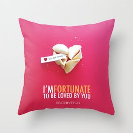 I'm Fortunate to be Loved by You Throw Pillow