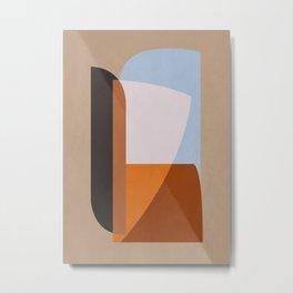 Minimal Abstract Art 001 Metal Print