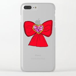 Ribbon Doodles Clear iPhone Case
