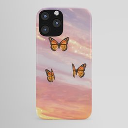 Butterfly Sunset Aesthetic iPhone Case