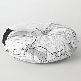 Big moon mounts Floor Pillow
