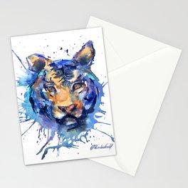 Tiger Watercolor Splatter Art Stationery Cards