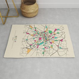 Colorful City Maps: Berlin, Germany Rug