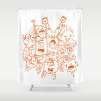 monsters Shower Curtains featuring Monsters by erickac