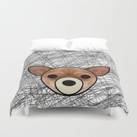 chihuahua Duvet Covers featuring Chihuahua by lllg