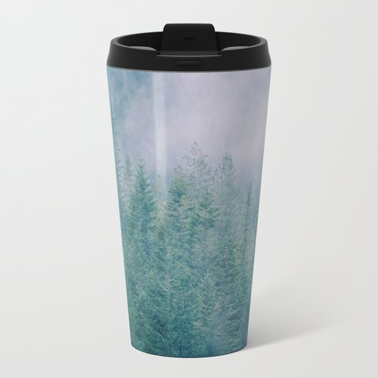 Foggy Forest in Squamish, British Columbia Metal Travel Mug