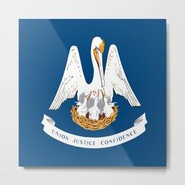 Flag of Louisiana -Louisianian,south, jazz,blues,french, new orleans, baton rouge,usa,america,us Metal Print