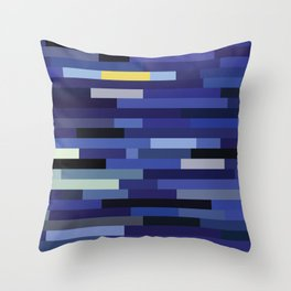 Swatchy Night Throw Pillow