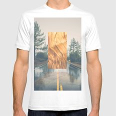 Towards the Unknown White MEDIUM Mens Fitted Tee