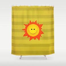 Smiling Happy Sun Shower Curtain