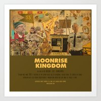 wes anderson Art Prints featuring Moonrise Kingdom - Wes Anderson by Smart Store