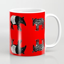 Dance of the Tapirs in red Coffee Mug