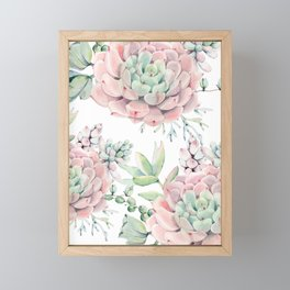 Pink Succulents by Nature Magick Framed Mini Art Print