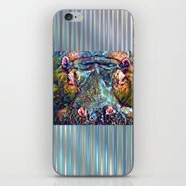 Whimsical Hippo iPhone Skin