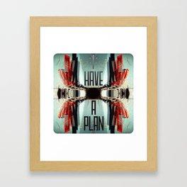 Plan Framed Art Print