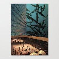 aquarius Canvas Prints featuring Aquarius by David Delruelle