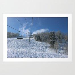 Summit Express Lift Art Print