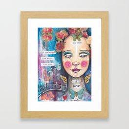 I Am Love Framed Art Print