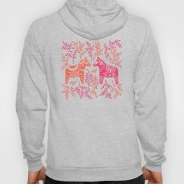 Swedish Dala Horses – Melon Palette Hoody