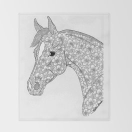 Miss Flower Lynn Quarter Horse Throw Blanket