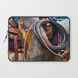Tools of the Trade - Cowboy Saddle Closeup Laptop Sleeve