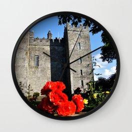 Bunratty Roses Wall Clock