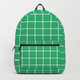 Green grid pattern Backpack
