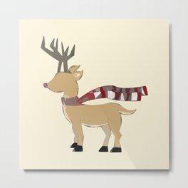 Winter Christmas Deer Metal Print