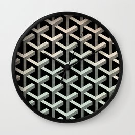 mesh cubes pattern Wall Clock