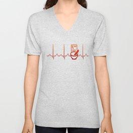 PHARMACIST HEARTBEAT Unisex V-Neck