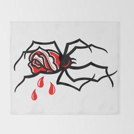 Bleeding Widow Throw Blanket