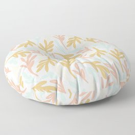Colorful Sketched Botanical 3 Floor Pillow