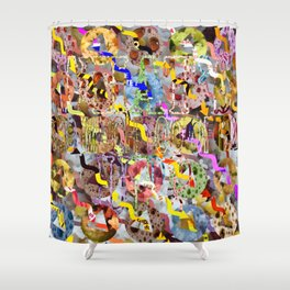 WHAT'S UP 05 Shower Curtain