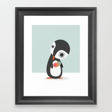 Pingu Loves Icecream Framed Art Print