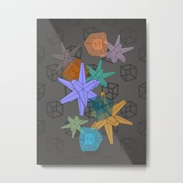 Stellated Dodecahedra With Hypercubic Reduction Metal Print