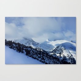 mountains under snow Canvas Print
