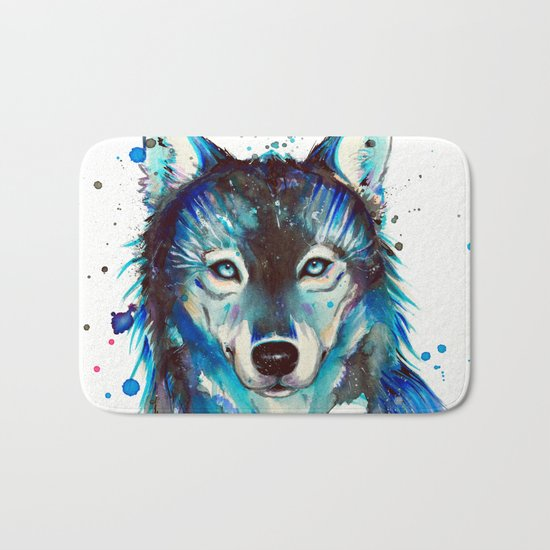-Dark Wolf- Bath Mat