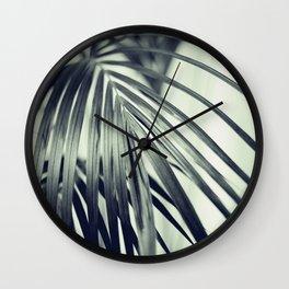 Green Palm Leaf #1 #decor #art #society6 Wall Clock