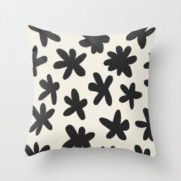 Flower Power Print Throw Pillow