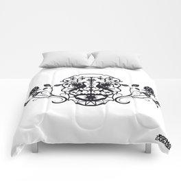 SKULL FLOWER 03 Comforters