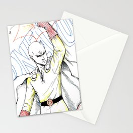 One Punch Man Stationery Cards