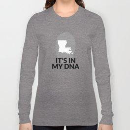 Louisiana DNA Gift for People from Louisiana  Long Sleeve T-shirt