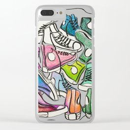 Sneaker Party Clear iPhone Case