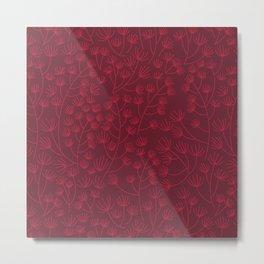Soft & Fuzzy (Red) Metal Print