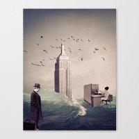life aquatic Canvas Prints featuring Life Aquatic by TRASH RIOT