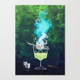 Absinth fire Canvas Print