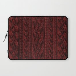 Cardinal Red Cable Knit Laptop Sleeve