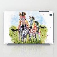 zebra iPad Cases featuring Zebra by Anna Shell